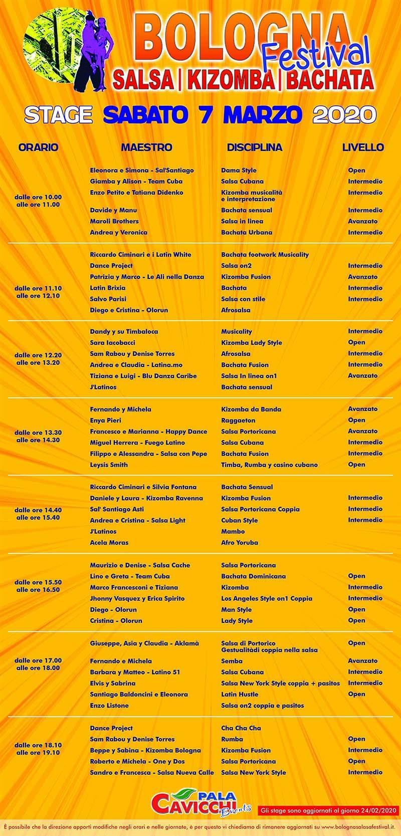 BSF - Stage Sabato 7 Marzo 2020