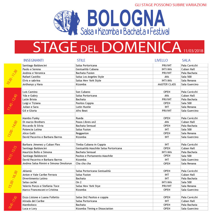 STAGE DOMENICA